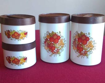 Beautyware by Lincoln Metal Fruit Cannister Set