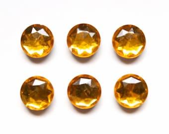 Magnets - Orange Amber Jewel magnets variety pack, Fridge Magnets, Unique Magnets