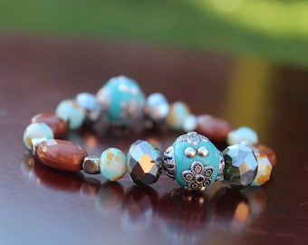 Bohemian Earth Tibetan Beaded Bracelet [ Gypsy / Witch ]