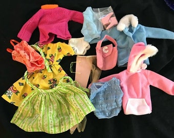 Vintage Barbie Mixed Doll Clothes and Accessories