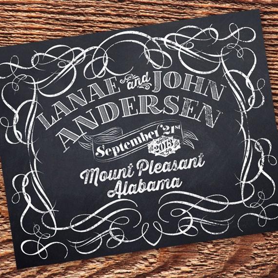 8x10 chalkboard wedding, chalkboard wedding sign, chalkboard wedding, wedding announcement, chalkboard wedding, IN242