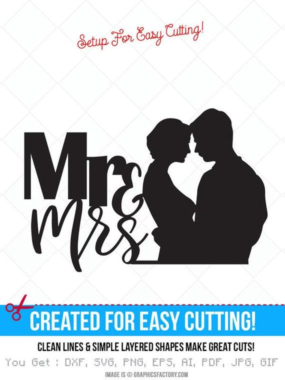 El Sr. y la Sra. svg cotizaciones personalizadas imprimibles