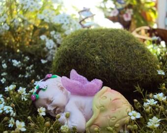 Fairy Baby Fairy Garden Miniature Sleeping Fairy Baby