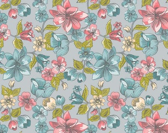 Penny Rose Fabrics 'Main Gray' Fabric By The Yard; Linen and Lawn by Sue Daley Designs, LW6340