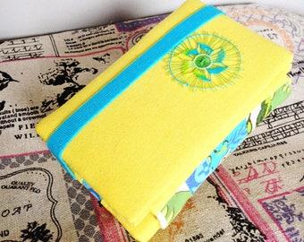 Needle case Nanduti - yellow / Naaldenmapje Nanduti, naaldkant - geel