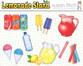 LEMONADE STAND clip art for signs