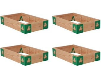M-Brace Mini: Set of 4 Full Kits - Steel Raised Garden Bed Corner Sets - DIY Planter Beds - 5 Cutout Choices Available