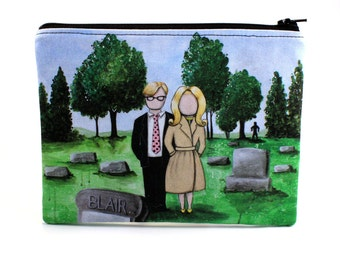 They're Coming To Get You - Zipper Pouch - Tribute to Night Of The Living Dead - Art by Marcia Furman