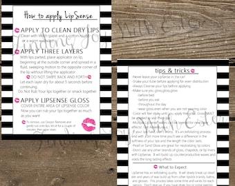 Lipsense Printable, How to Apply Lipsense, Tips and Tricks, Lipsense Instant Download