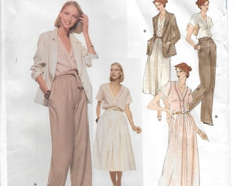 Vogue Pattern 1883 American Designer Anne Klein*Uncut*Size 10*Misses Jacket, Blouse, Skirt and Pants*1970's Sewing Pattern*FF