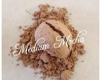 MEDIUM MOCHA Eye Shadow Mineral Matte Eye Shadow Vegan All Natural Pure Handmade