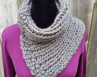 Chunky Knit Scarf, Crochet Scarf, Handknit Wool Scarf, Chunky Thick Scarves, Winter Scarf, Chunky Scarves, Cowl Scarf, Knit Cowl