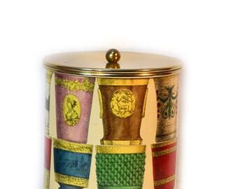 Fornasetti Ice Bucket Rare Bohemian Glasses Design