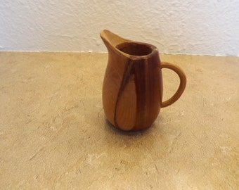 Small Wooden Pitcher