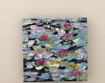 Lily pond tiny art