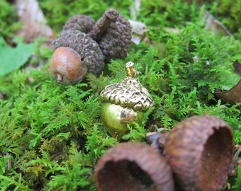 Gold Acorn Lapel Pin- Nature, Woods, Hiking, Acorn, and Oak Pins