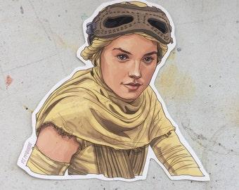 Rey STAR WARS waterproof sticker
