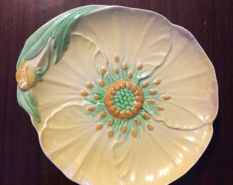 SALE marked down from 85 now 55  ... CARLTON Ware Yellow BUTTERCUP  Floral dish  ... vintage sitting pretty 30s glassware .