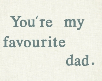Funny card for dad / father