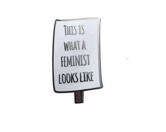 women's march protest pin - feminist pin lapel pin - this is what a feminist looks like