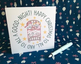 Night Before Christmas Greeting Card - Christmas Card