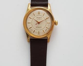 Vintage SUNCO, SWISS made gentlemens watch, high end movement, circa 1950--------SERVICED----------