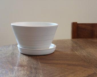 BERRY BOWL- Matte White porcelain: collander, strainer, ceramic berry bowl, kitchen storage, strawberry, raspberry, grapes, fruit bowl