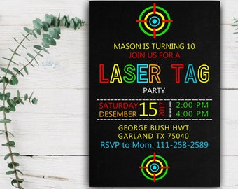Laser tag birthday party invitation laser tag invitation laser tag birthday party invitation laser tag invitation laser tag party neon invitation stopboris Image collections