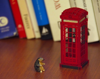 London Decor for Birthday, London Art, London Decoration for party, British Decor, Red Telephone Booth, Centerpiece