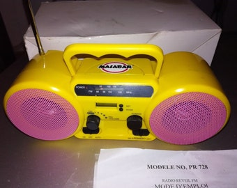 Yellow MALABAR advertising Vintage radio station