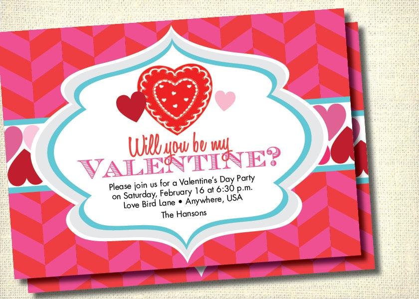 DIY Printable Valentine\'s Day Party Invitation