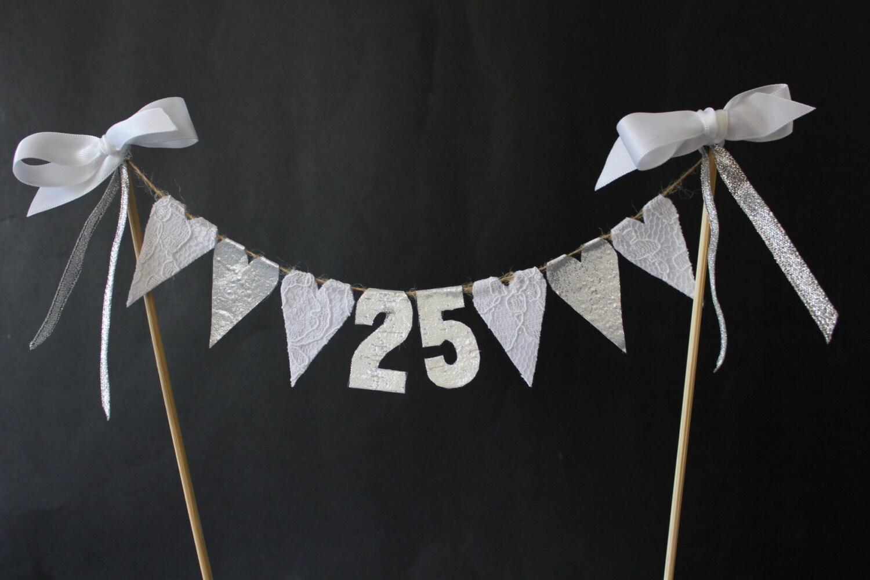 25th Wedding Anniversary Cake Toppers Bigoo