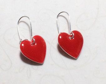 Heart Earrings Stocking Stuffer Christmas Gifts Valentine Dangle Earrings Wedding Jewelry Mom Girlfriend