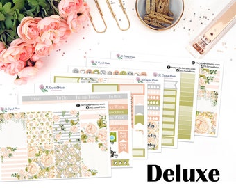 Deluxe Champagne Dreams Vertical Planner Kit || for use with ERIN CONDREN LIFEPLANNER™.