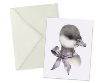 Duckling Card 1pc Cute Blank A2 Note Card