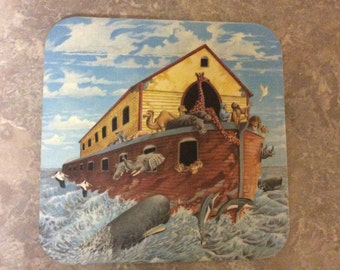 Six Coasters in a Keepsake Box Noah's Ark Design, Legacy Publishing Group.