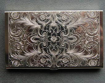 Sterling Silver Ultra Slim Business Card Case, Brand-new Made in Germany 74/SS 82