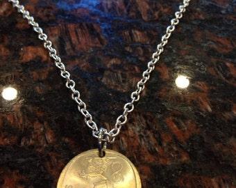 Finland 1 markka coin necklace