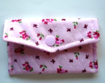 Quilted Cotton fabric card wallet / small purse