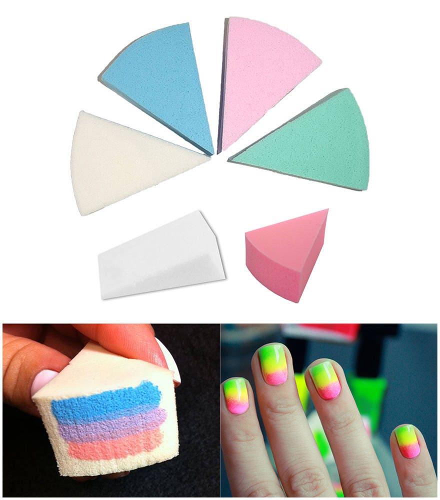 Uñas esponja decoración Ombre efecto uñas arte manicura profesional ...