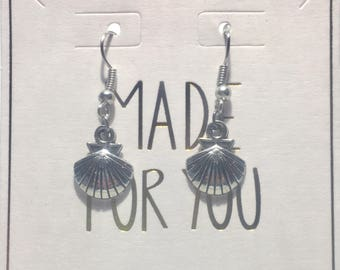 Silver Seashell Earrings