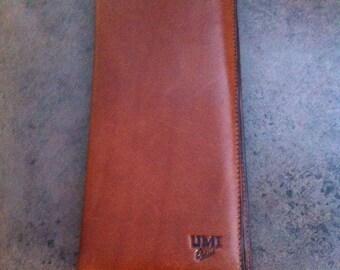 Vintage Pocket Wallet - Rich Chocolate Brown Leather - Suit Pocket Wallet - Gift for Him