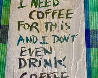 Coffee Sign 7x10 - Coffee Bar - Coffee Shop - Coffee Inspiration - Hand Lettered - Coffee Break - Jave - Joe - Brew - Magic Beans
