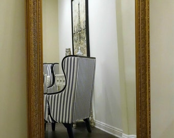Full Length Mirror For Sale Vintage White Baroque Decorative