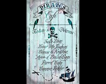 "Pirates Cafe Collage Paper - 11"" x 17"" - CLPR294 - by StudioR12"