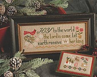 Lizzie Kate - Joy to the World K60 - Christmas Counted Cross Stitch Pattern, Fabric Kit