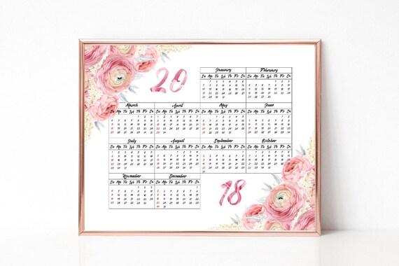 print 2018 year calendar