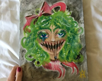 Curly Dollie /Original Painting/