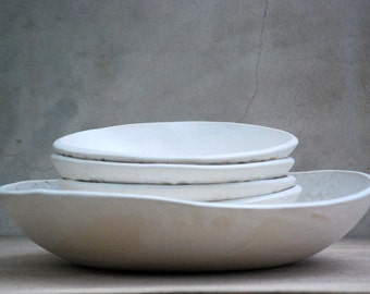 Pasta serving bowls, Bowl set, Salad serving bowl, Handmade gifts, 9th anniversary gift, Housewarming gift, Pottery bowls, ceramic bowl