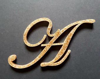 decorative glitter acrylic letters